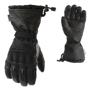 RST PARAGON 2020 Waterproof CE Black Leather Winter Visor Wipe Motorcycle Gloves