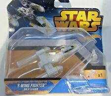 Star Wars Hot Wheels Y-Wing Fighter Gold Leader Model Base to Ring New