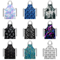 Women Waterproof Polyester Apron with Pocket for Chef Cooking Kitchen BBQ Aprons
