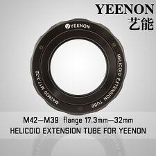 【YEENON】M42 to M39 x 17.3mm Focusing Helicoid Macro Extension Tube