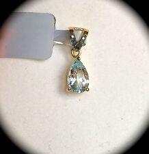Aquamarine Heating Diamond Fine Necklaces & Pendants