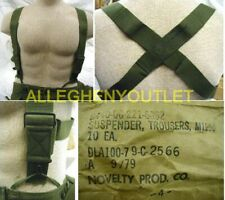 2 Pair NEW OD Green ELASTIC SUSPENDER M1950 MILITARY ARMY USMC Trouser Pants BDU