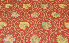 """BRAEMORE ODEN SPICE RED #D4059 Jacobean Floral Multiuse FABRIC BY YARD 54""""W"""