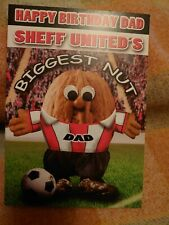 Dad birthday greetings card - Sheffield United fan