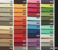 Gardinen Deko Baumwolle Lonetta Stoff Uni Meterware, 44 Farben in 280 cm Breite