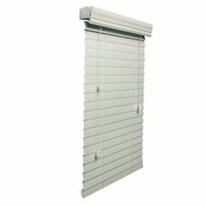 Lotus & Windoware Premium 2-Inch Faux Wood Blind, 22 by 60-Inch, White