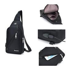 Bag Sling With Carrying USB Charging Port Shoulder Bag Crossbody Walking Cycling