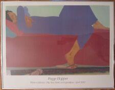 VINTAGE 1983 NY FINE ART EXHIBITION HOPPER POSTER HAWAIIAN WOMAN EXPRESSIONISM