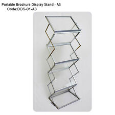 Premium Portable A3 Brochure Holder /  Literature Stand / Catalogue Rack