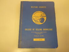 Goodyear Tire and Rubber Company Sales Guide 1962 Training Salesman Vintage