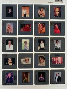 Lot 20 Julie Andrews 35mm Photo Slides Press Candid The Sound of Music Actress