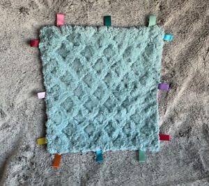 Hand Made Lovey Baby Blanket Flowers Textured Soft Security Silk Tags