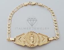 18K Gold Plated Virgin Mary Bracelet | Esclava Virgen Guadalupe Oro Laminado 18K
