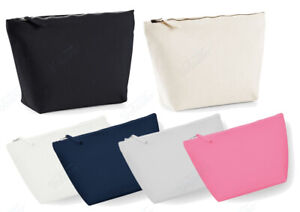 CANVAS ACCESSORY BAG. ZIPPED JEWELLRY AND MAKE UP BAG / POUCH.TOILET / WASH BAG.
