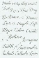Kelly Creates MULTICOLOR Faith - Clear Rubber Stamp Set for Stamping Crafts
