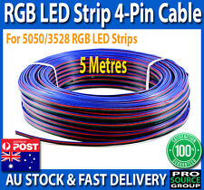 5 Metres 4-Pin Wire Flexible Extension Cable Cord for RGB Led Strip Lights