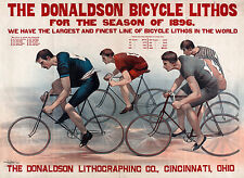Donaldson Lithographic, Bike Poster, Antique Bicycle, Vintage Bike, Canvas Print
