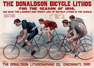 Donaldson Lithographic, Bike Poster, Antique Bicycle, Vintage Bike, Canvas Print