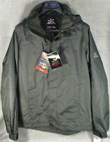 Men's ZeroXposur Hooded Rain Jacket Windbreaker Hardshell Green Black - NWT