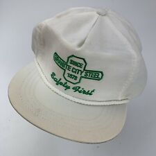 Granite City Steel Since 1878 Safety First Ball Cap Hat Adjustable Made in USA