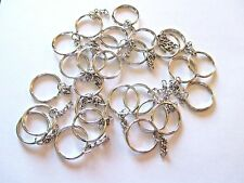 Wholesale Lot of 50 Keychain Rings Diy, Silver Tone