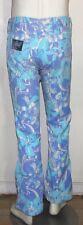 Lilly Pulitzer vintage mens stuff jeans blue flower print  30 W bell bottom