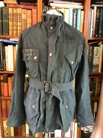 VINTAGE WAX BARBOUR INTERNATIONAL STEVE MCQUEEN WITH BELT JACKET SIZE L
