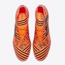 F183 UK 12 Nemeziz 17.1 Firm Ground Football Boots - Solar Orange/Core Black/Red