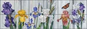 Flower Tile Backsplash Forget Ceramic Mural Floral Art Kitchen Shower VFA023