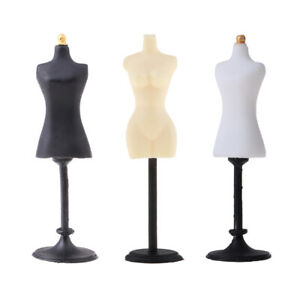3PCS 1:12 Dollhouse Miniature Female Bust Model Clothing Stands Support