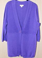 DENIM & CO XL 3/4 Sleeve 1 Button Cardigan with Oragami  Detail