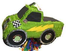 APINATA4U Green Monster Truck Theme Pinata