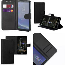 For Xperia 10 Plus Black Book Pouch Case Wallet PU Leather+Card Slot for X10Plus