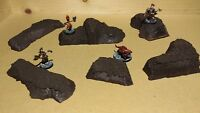 Wargaming Terrain - Small Box Set of Black Hills Primed and Unfinished