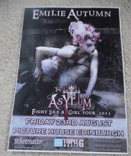 Emilie Autumn - aug 2013 UK live music show memorabilia concert gig tour poster