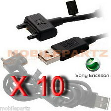 10 x Sony Ericsson Dcu-65 Usb Data Cable for Elm Satio K610i K800i K810i W995i