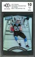 2017 panini national convention vip prizm #28 CHRISTIAN MCCAFFREY rc BGS BCCG 10