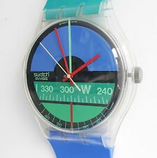 SWATCH NAUTILUS MAXI 1987 83 Inch Wall Clock Large Swiss Watch Switzerland Huge!
