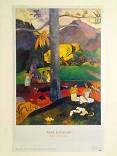 "PAUL GAUGUIN MUSEO THYSSEN MADRID LITHOGRAPH PRINT POSTER ""MATA MUA"" 1892"