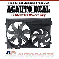 Radiator Cooling Dual Fan Assembly for Audi A3 TT VW Jetta Passat