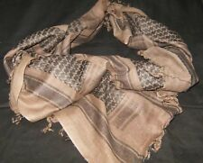 SHEMAGH ARAB SCARF KEFFIYEH FASHION SCARF 100% Cotton Brown & Black