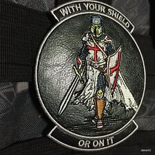 Leather WITH YOUR SHIELD or on it TEMPLAR KNIGHTS patch CRUSADER Morale 219