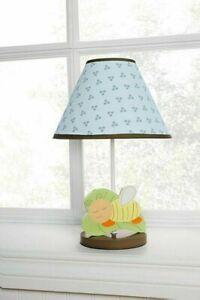 Kidsline Night Night Bugs Lamp & Shade Boys Room Bee Insects Nature Baby Nursery