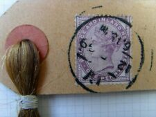 BOER WAR 1899 SWEETHEART LOVERS REAL HAIR LOCK VICTORIA MAUVE 1 PENNY STAMP P/C