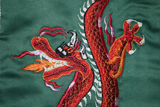 RED DRAGON DETAILED EMBROIDERY WALL HANGING FROM NEPAL