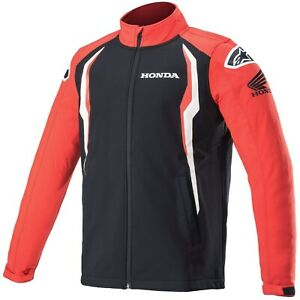 Alpinestars Honda Herren Softshell Jacke mit Polar-Fleece Kragen