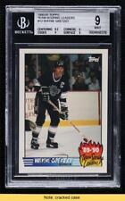 1990-91 Topps Team Scoring Leaders Wayne Gretzky #12 BGS 9 MINT HOF READ