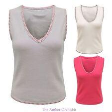 Women's V Neck No Pattern Cotton Waist Length Tops & Shirts