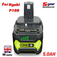 18V 5.0AH For Ryobi One+ Plus P108 Lithium-ion Battery RB18L50 P104 P780 RB18L40