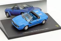 Lamborghini Jalpa Spyder Baujahr 1987 blau 1:43 Leo Models